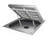 AutoLift HE Hostile Environmental Stainless Steel Low-Profile Lift Floor Scales